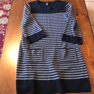 Alfa I ladies black and gray sweater dress size m